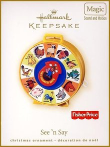 2007 Hallmark SEE 'N SAY ~Christmas Ornament~ Motion & Sound