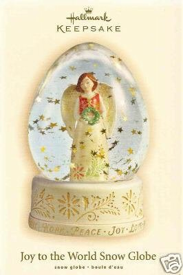 2007 Hallmark JOY TO THE WORLD SNOW GLOBE ~Christmas Ornament~