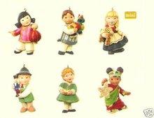 2007 Hallmark JOY TO THE WORLD~set of 6 CHILDREN Ornaments