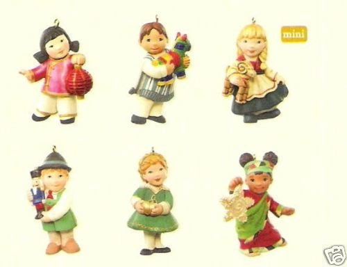 2007 Hallmark JOY TO THE WORLD~set of 6 CHILDREN Ornaments