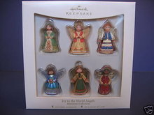 Set of 6~2007 Hallmark JOY TO THE WORLD ANGELS ~Christmas Ornaments