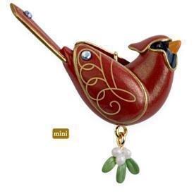 2009 Hallmark NORTHERN CARDINAL Beauty of Birds Christmas Ornament