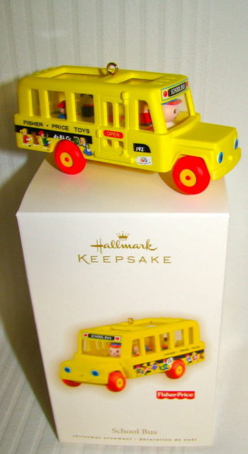 2009 Fisher Price SCHOOL BUS~Hallmark Christmas Ornament