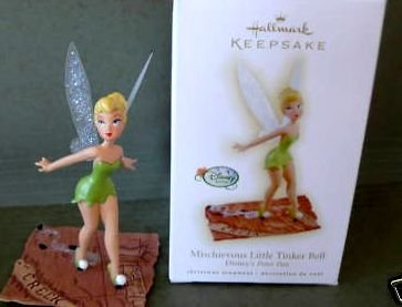 2009 Hallmark MISCHIEVOUS LITTLE TINKER BELL Christmas Ornament~Disney Peter Pan