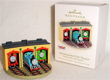 2009 Hallmark CHRISTMASTIME WITH THOMAS The Tank Christmas Ornament