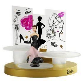 2009 Hallmark BARBIE IN THE SPOTLIGHT Christmas Ornament & Lighted Runway Display Stand