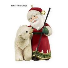 2009 Hallmark A VIST FROM SANTA Christmas ornament #1