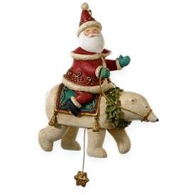 2009 Hallmark SANTA'S MAGICAL BEAR Christmas ornament~Motion