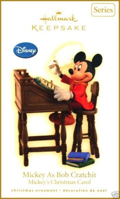 2009 Hallmark MICKEY AS BOB CRATCHIT ornament