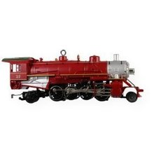 2009 Hallmark  LIONEL HOLIDAY RED MIKADO LOCOMOTIVE Christmas ornament
