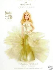 2009 Hallmark 50 Years of Fabulous BARBIE~Limited Ed. PORCELAIN Christmas Ornament