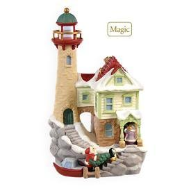 2009 Hallmark LIGHTHOUSE GREETINGS Christmas ornament~13th~Lights up