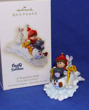2009 Hallmark A WINTERFUN RIDE Christmas Ornament~Frosty the Snowman