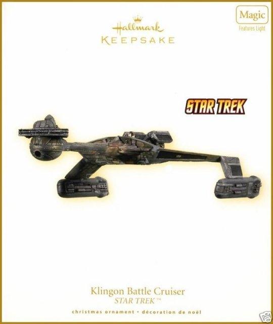 2009 Hallmark KLINGON BATTLE CRUISER Star Trek Christmas Ornament