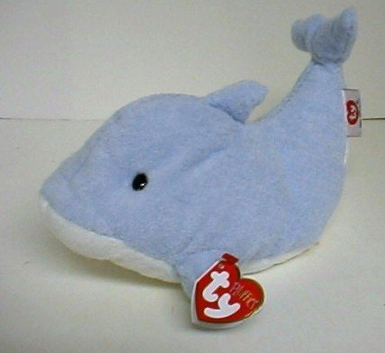 New Ty FLIPS Dolphin~Pluffies~Soft BLUE Plush~Baby Gift