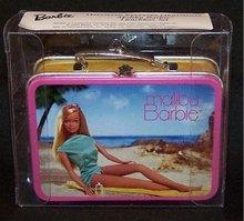 Hallmark MALIBU BARBIE LUNCHBOX 2002 Christmas Ornament~Club~Lunch Box + 5 Pewter Accessories