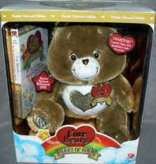 Care Bears HEART OF GOLD  SWAROVSKI BROWN Premier Edition- New + DVD