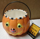 Hallmark Halloween Pumpkin TREAT DISH~Ceramic~ New