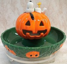 Halloween Dept 56 Snoopy's Lighted TREAT Candy DISH~Peanuts