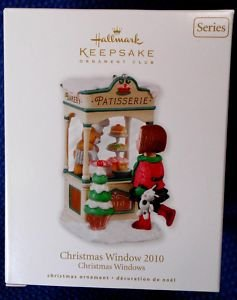 Hallmark CHRISTMAS WINDOW 2010 Club French Bakery Ornament #8