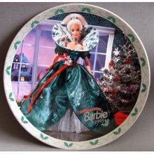 BARBIE HAPPY HOLIDAYS 1995 Enesco CHRISTMAS PLATE Rare