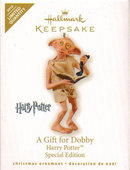 Hallmark 2010 Harry Potter A GIFT FOR DOBBY Limited Edition Christmas Ornament