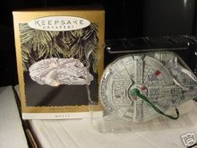 MILLENNIUM FALCON Star Wars 1996 Hallmark Magic Christmas Ornament