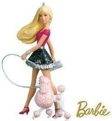 2010 Hallmark A POSH PAIR BARBIE & Poodle Christmas ornament