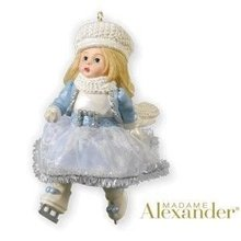 2010 Hallmark DAZZLING WINTER SKATER Christmas ornament Madame Alexander
