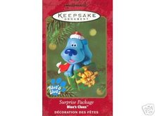 BLUE'S CLUES Surprise Package Hallmark Christmas Ornament 2000 Blues NEW