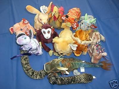 Ty Set of 12 Chinese ZODIAC Beanie Babies
