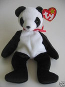 New! Ty FORTUNE PANDA BEAR Beanie Baby Mint tags