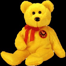 TRADEE Beanie Baby Bear -Retired Ty Store Exclusive e-Beanie