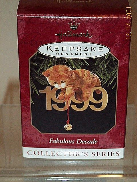 Fabulous Decade 1999 Hallmark ornament