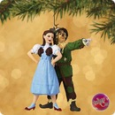 Dorothy & Scarecrow Wizard of OZ SIGNED Hallmark Ornament