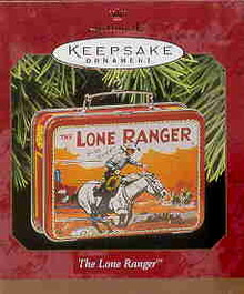 Lone Ranger Lunch Box Hallmark Ornament~Tin Lunchbox