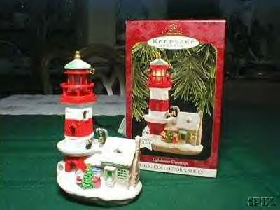 Lighthouse Greetings #1 Hallmark ornament 1997