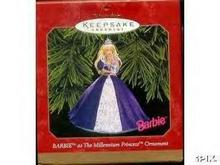 Millennium Princess Barbie Hallmark 1999 Ornament~Mint