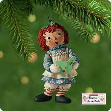 Raggedy Ann Hallmark 2001 ornament