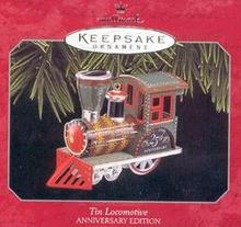 Tin Locomotive Hallmark Ornament 25th Anniversary Edition 1998