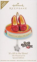 Hallmark 2011 IT'S ALL IN THE SHOES! Wizard of Oz LIMITED ED Christmas Ornament