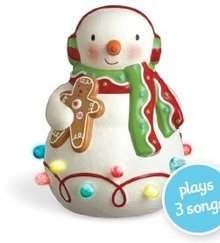 NEW! Hallmark 2010  Season's Treatings MUSICAL SNOWMAN w/ lights