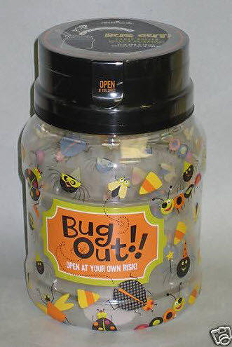 New Halloween BUG OUT Candy Keeper Jar Hallmark
