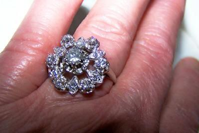 Diamond Filigree Dinner/Cocktail Ring