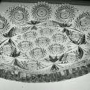 LARGE ABP CUT GLASS CRYSTAL TRAY SIGNED HAWKES