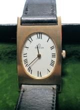 RARE ANTIQUE 14K GOLD ART DECO OMEGA WRIST WATCH, EXCELLENT WORKING CONDITION