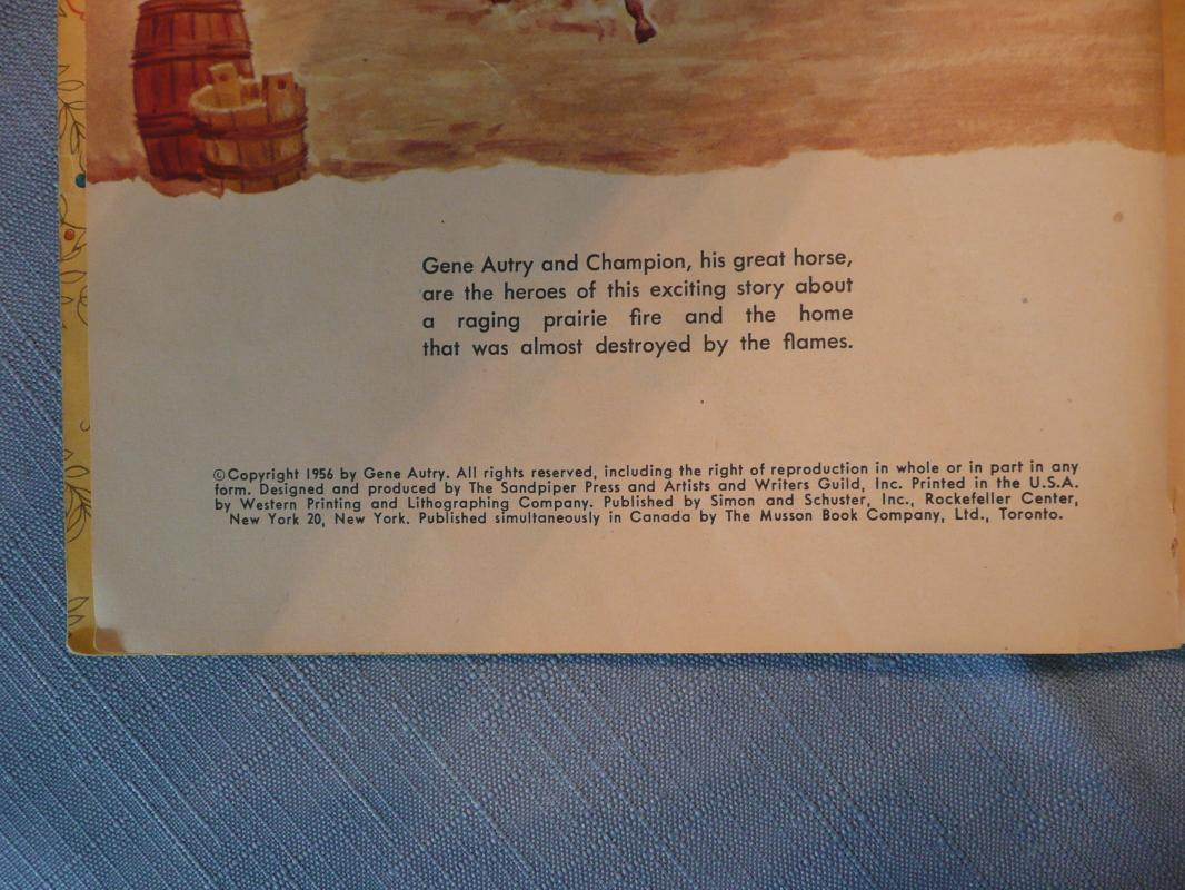 Gene Autry and Champion Little Golden Books