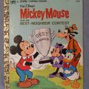 Mickey Mouse and the Best Neighbor Contest Little Golden Books