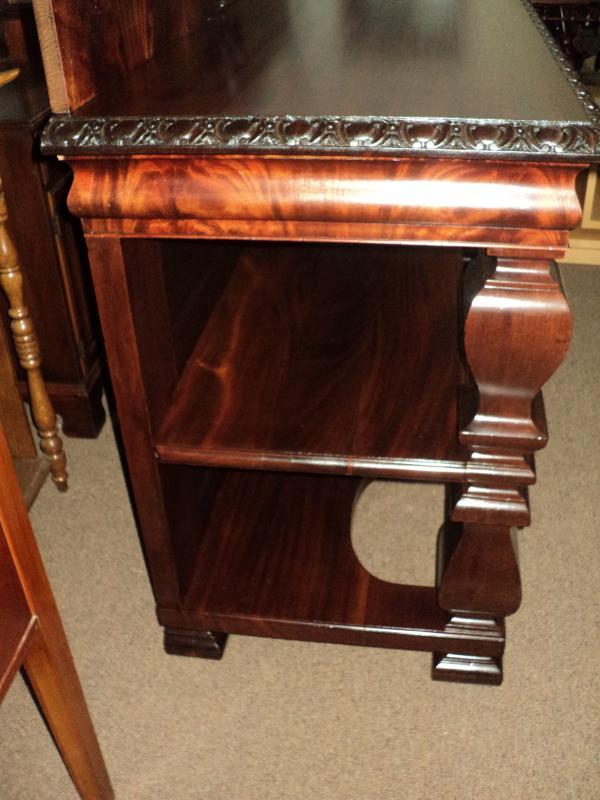 Antique Mahogany 19th Century Victorian Buffet Server