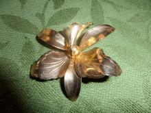 Goldtone  tulip brooch